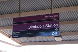 Viclink signage at Dimboola, minus any V/Line logos because they don't go here