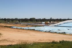 Stockpiling grain on the ground at the Dimboola GrainFlow site