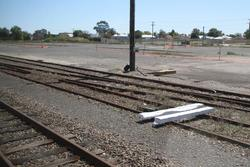 Horsham: Baulks in the goods yard, some tracks removed