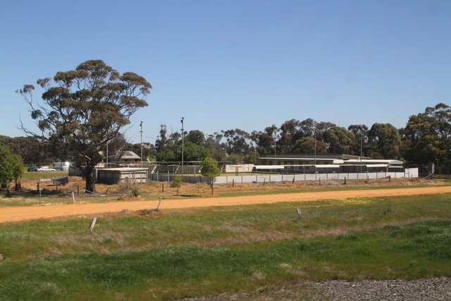 Serviceton Bowling Club south of the station