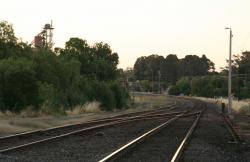 Down end sidings from Main Street