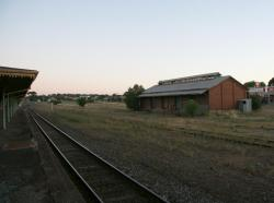 Goods shed from the platform