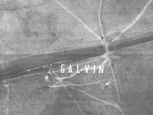 1945 aerial photo of Galvin Station