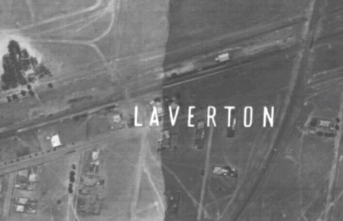 1945 aerial photo of Laverton Station