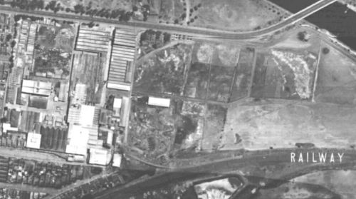 1945 aerial photo of Angliss's Siding