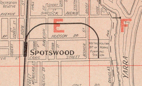 Spotswood Pumping Station in the Morgan's Street Directory