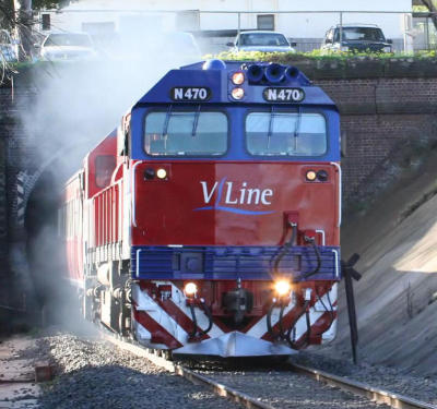 N470 exiting the Geelong Tunnel